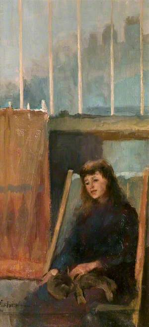 Young Girl Sitting in a Deck Chair
