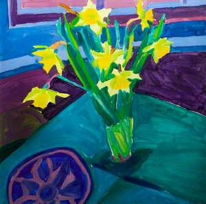 Daffodils on a Green Cloth