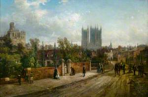A View of Lincoln Cathedral from Drury Lane
