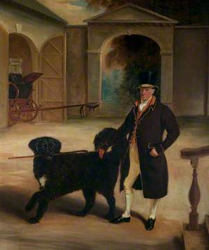 Mr Pare's Coachman with a Newfoundland Dog