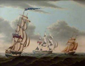 Three English Sailing Ships