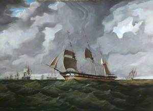 Men-of-War at the Beginning of a Storm