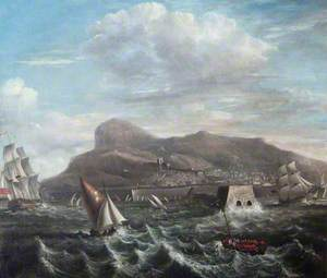 Man-of-War with Shipping off Gibraltar