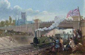 First Train Leaving Grimsby, Lincolnshire, 1848