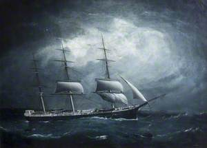 Three-Masted Ship by Night