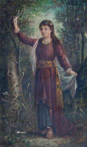 A Girl in a Wood with a Letter