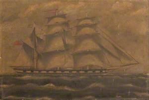 Three-Masted Sailing Ship 'Gladova' of Sunderland