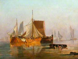 Dutch Boats in the Calm
