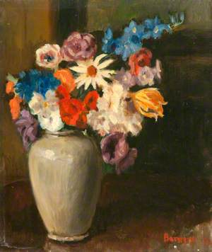 Flowers in a Pottery Vase