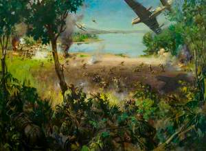 2nd Battalion The Leicestershire Regiment, as Chindits, during Operations against the Japanese at Indaw Lake, Burma, 1944