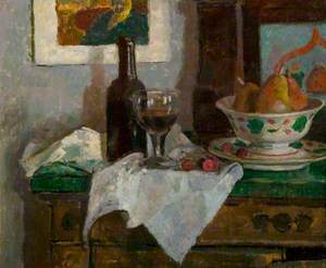 Still Life with a Wine Bottle and a Glass