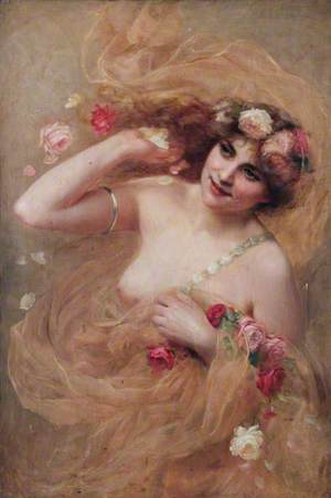 Nude with Roses