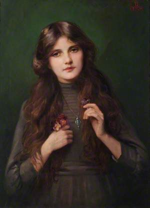 Portrait of an Unknown Girl in a Grey Dress