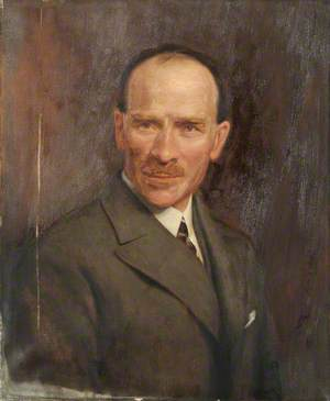 Portrait of an Unknown Man in a Suit and Tie