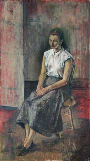 Portrait of an Unknown Girl in a White Blouse