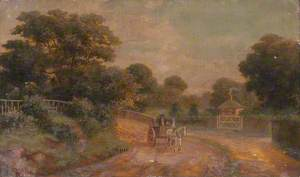 Cottage and a Horse Drawn Cart