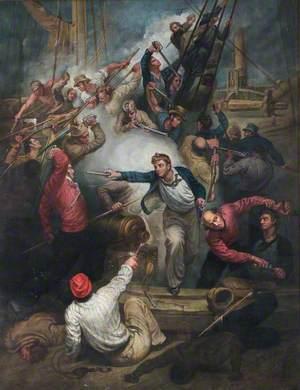 Captain Rogers Capturing the 'Jeune Richard', 1 October 1807