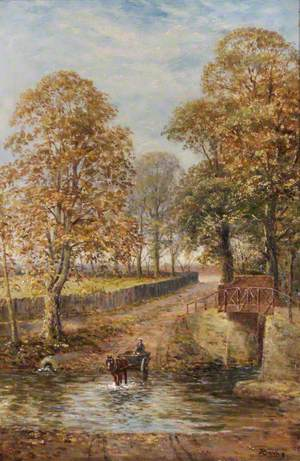 Crossing the Brook near Weir Hall