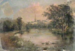 Landscape with a Pond and a Church