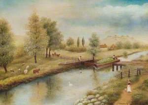 New River, Myddleton Road, 1870
