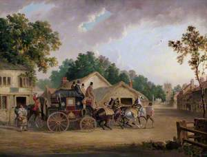 The York to London Coach at Bedale