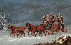 Mail Coach in a Snowstorm