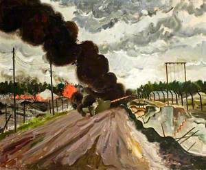 The Burning Down of Huts in Camp 1, Belsen Concentration Camp