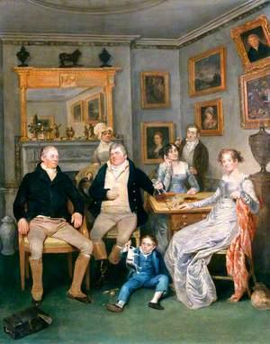 A Family Scene in a Domestic Interior
