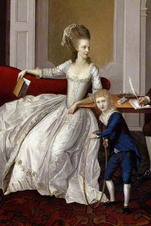 Group Portrait (possibly of the James Family), in a Domestic Interior