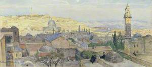 Panorama of Jerusalem Facing the Mount of Olives