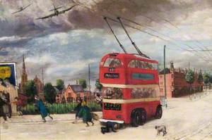 Air Raid: Trolleybus, Wimbledon