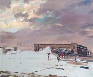 CFE (Central Fighter Establishment) West Rayham Norfolk: Hawker Hunter Disperal Hangars, 1955