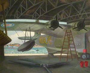 Sunderland Flying Boat in a Hangar