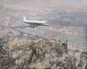 Vickers Viscount over the Houses of Parliament