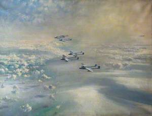 First Crossing of the Atlantic by Jet Aircraft: 54 Squadron Vampires, July 1948