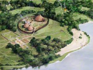 Artist's Impression of the Tower of London Site, c.AD40