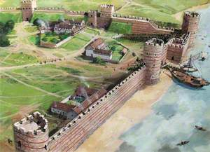 Artist's Impression of the Tower of London Site, c.AD400