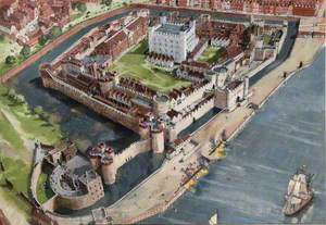 Artist's Impression of the Tower of London Site, 1700