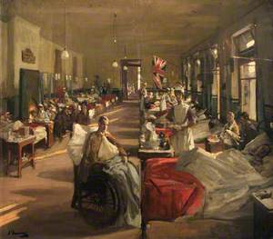 The First Wounded at The London Hospital, 1914