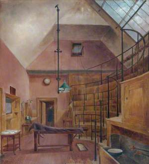 The Old Operating Theatre at The London Hospital, Demolished in 1889