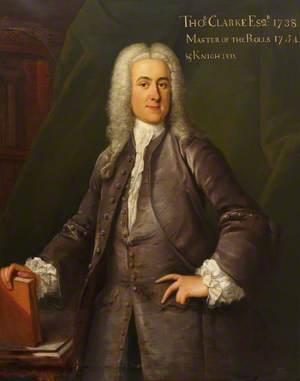 Thomas Clarke Esq., Master of the Rolls (1754–1764)
