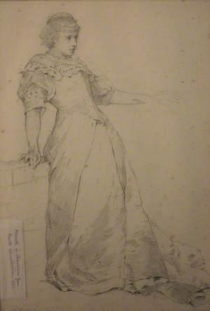 Standing Woman – Book Illustration