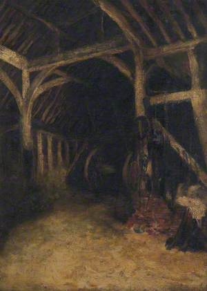 Interior of (Sir George Monoux's) Barn, Chingford