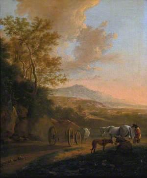 Italian Landscape with an Ox-Cart