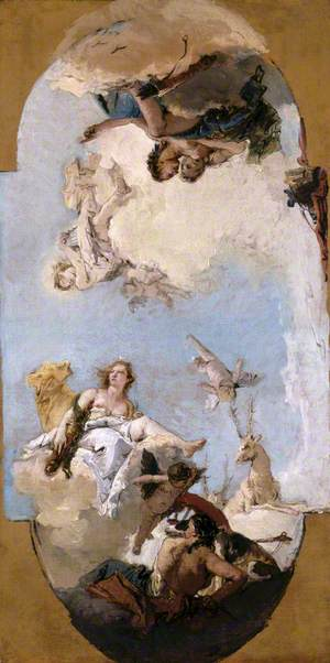 Diana, Apollo and Nymphs