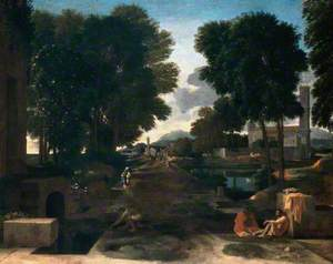 Landscape with Travellers Resting (A Roman Road)