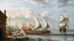 A Galley off Malta