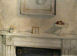 White Still Life, Items on a Mantelpiece