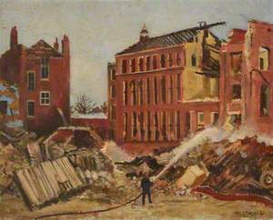 Mulgrave Place School, after Bombing, Woolwich