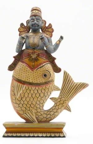 Hindu God, Vishnu as Matsya (the Fish)